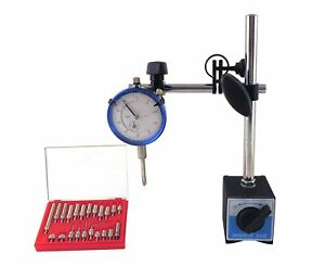 Dial Indicator Set Test 0 001 With On off Magnetic Base Supply Magneti
