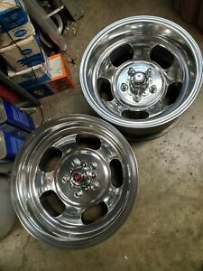Polished 15x8 5 Slot Mag Wheels Chevelle Camaro 442 Gto Ss Chevy Van Nova T a Gm