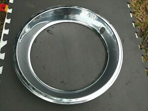 15 Oem Stainless Steel Trim Ring 1 Used Chevy 1974 77 Monte Carlo 15x7 Wheel
