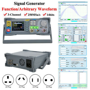 Fy8300 Signal Generator 3 channel Function arbitrary Waveform 250msa s Rate