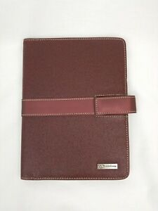 Franklin Covey Notepad folio Faux Leather Pebble Cover 9 X 7