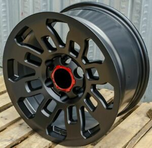 17x8 Matte Black Wheels Fits Toyota 4runner Tacoma 17 Inch 6x139 5 Rims Set 4