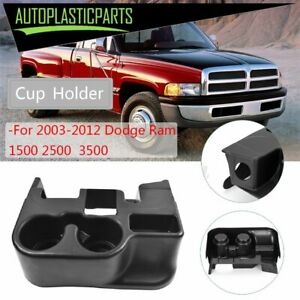 For 2003 12 Dodge Ram 1500 2500 3500 Black Center Console Cup Holder Attachment