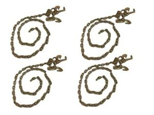 4 Pack Of 5 16 X 8 G70 Transport Chains With Rtj And Grab Cluster Hooks