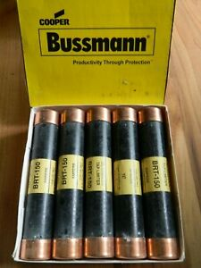 New Box Lot Of 10 Cooper Bussmann Fuse Brt 150 Bussman Trolly Tap Limiters