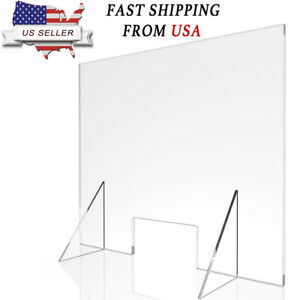 Sneeze Guard Acrylic Divider Protection Barrier Shield Checkout Counter Desk