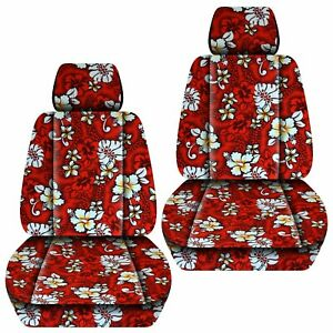 Front Set Car Seat Covers Fits 1997 2019 Honda Cr V Hawaill Red Flower
