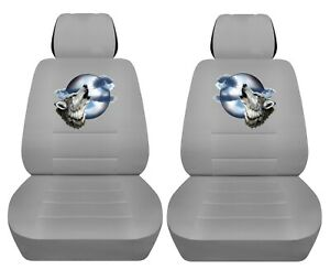 Front Set Car Seat Covers Fits 2005 2020 Toyota Tacoma With Howling Wolf Design