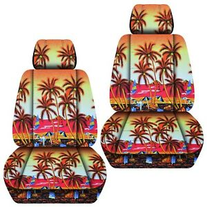 Front Set Car Seat Covers Fits 2005 2020 Toyota Tacoma Hawaill Red Tree