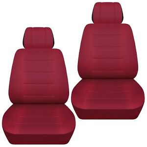 Front Set Car Seat Covers Fits 1997 2020 Toyota Camry Solid Burgundy