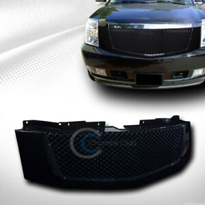 Fit 07 14 Cadillac Escalade Ext Glossy Black Mesh Front Hood Bumper Grill Grille