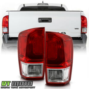 For 2016 2020 Toyota Tacoma Red Clear Tail Lights Brake Lamps Pair Left Right