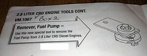 2005 06 Jeep Liberty 2 8l Diesel Engine Injection Pump Remover Tool Vm 1067