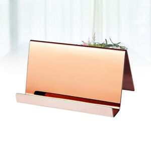 1pc Wedding Place Card Display Holder Stainless Steel Office Business Card Stand