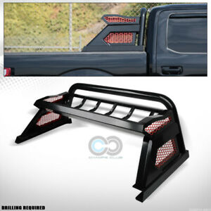 Fits 07 19 Toyota Tundra Matte Black Truck Chase Rack Roll Bar W Carrier Basket