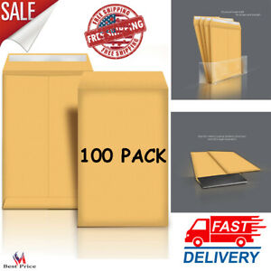 Catalog Mailing Envelopes Peel Seal Brown Kraft For Multi page Document 100 Pc