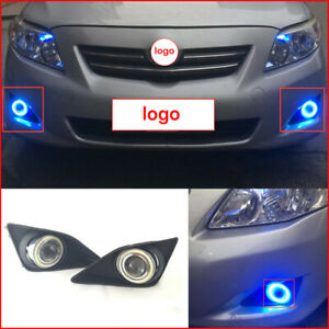 For Toyota Corolla 07 2010 2pcs Auto Front Bumper Angel Eyes Fog driving Lamps