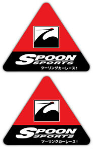 2x Red Spoon Sports Decal Stickers Type One Jdm Reflective Civic S2000 Accord