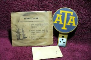 Vtg Nos 30s 40s 50 Ata Emblem Badge License Plate Trunk Trucker Topper Acessory
