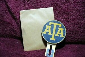 Vtg Nos 30s 40s 50 Ata Emblem Badge License Plate Topper Auto Truck Accessory