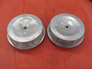 Original Survivor 56 57 Corvette 2x4 Dual Quad Air Cleaners Pair Used
