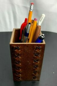 New Recycled Leather covered Pencil Box cup