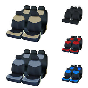 Auto Seat Covers Front Rear Head Rests Washable Covers Set For Car Truck Suv Van