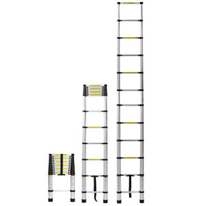 Aluminium Telescoping Ladder Folding Non slip Ladder Kadell16 5ft 12 5ft 10 5ft