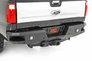 Rough Country Heavy Duty Rear Bumper W Leds fits 99 16 Ford F250 F350