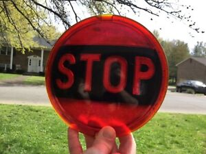 Vtg Stop Tail Light Cat S Eye No 20 Car Hot Rod Truck Tractor Bus 6 1 2 Inches