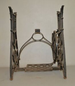 Vintage Standard Sewing Machine Industrial Base Cast Iron Treadle Table Stand