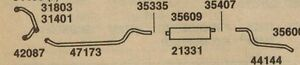 1957 1959 Chevy Truck With 283 Single Exhaust 3100 3200 3600 Aluminized