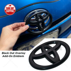 For Toyota 4runner Camry Prius C Black Front Grille Overlay Add On Logo Emblem