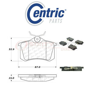Centric Posi Quiet Ceramic Brake Pads W Shims For 2014 2017 Peugeot 208 1 6l Fo