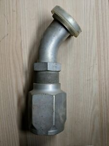 Reusable Hydraulic Hose Fitting 1 1 2in X 2w No Skive Female 45degree Elbow