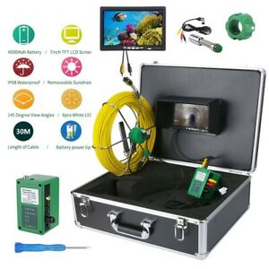 New 30m Sewer Waterproof Camera 7 lcd Drain Pipe Pipeline Inspection System Us