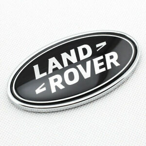 Land Rover Grille Emblem Black Oval Trunk Tailgate Badge Nameplate Decal Insert