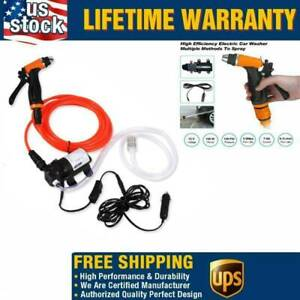 Mini Portable Electric Car Washer Kit 80w 130psi High Pressure Water Pump 12v G