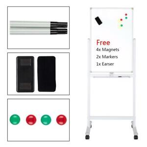 36 Dry Erase Stand Magnetic Double Sided Whiteboard Wheels Multi functional
