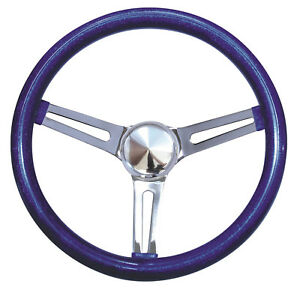 15 Mooneyes 3 Spoke Steering Wheel Blue Metal Flake Gs270cmbl W Gs1000 3 Horn