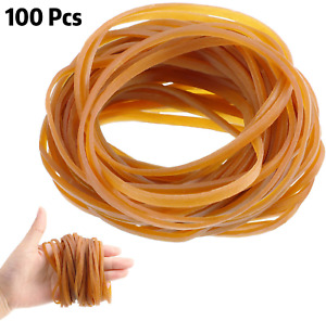 100 Pieces Rubber Bands Elastic Trash Can Bands Office File Folder