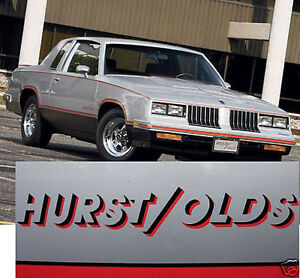 83 84 Hurst olds Oldsmobile Cutlass G Body Decal Sticker 442 Black Red