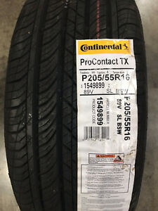 2 New 205 55 16 Continental Pro Contact Tx Tires