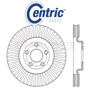 Centric C Tek Disc Brake Rotor For 2017 2018 Lincoln Continental 2 7l 3 0l Qw