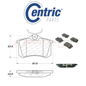 Centric Posi Quiet Disc Brake Pads W Shims For 1989 1999 Peugeot 405 1 9l Eq