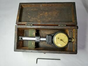 Vintage Boice Gages C5m 0005 Test Dial Indicator Precision Mount Holder Usa