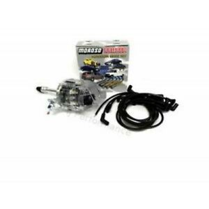 Chevy 305 350 383 400 Clear Cap Hei Distributor Moroso Race Wires Ignition Kit