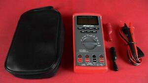 Snap on Tools Eedm504d Auto ranging Digital Multimeter With Case And Probes