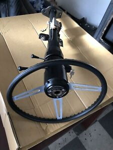 69 75 C3 Corvette Tilt Tele Steering Column Wheel Rebuilt Gm Oem Factory Rare
