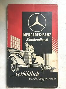 Vintage Mercedes Benz Road Map Of Germany Suddeutschland 30 s 40 s